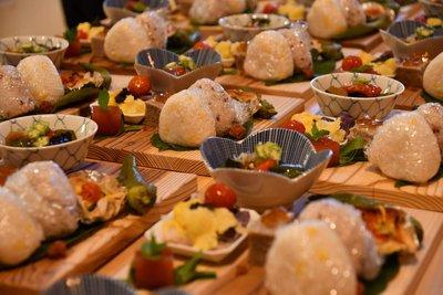 多賀のお米や野菜を使った料理